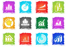 Diagram and infographic icons Stock Image