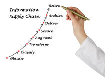 Diagram of Information Supply Chain Royalty Free Stock Images