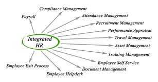 Diagram of Integrated HR Royalty Free Stock Images