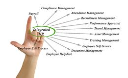 Diagram of Integrated HR Royalty Free Stock Photo