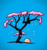 Diagram körsbärsrött träd Arkivfoto