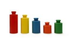 Diagram - kleurrijke gewichten Stock Fotografie