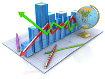Diagram knowledge royalty free stock images