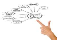 Diagram Konkurencyjna inteligencja zdjęcie royalty free