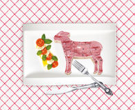 Diagram of lamb cutting Royalty Free Stock Photo
