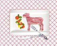 Diagram of lamb cutting Royalty Free Stock Photo