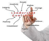 Diagram of leadership qualities Royalty Free Stock Photography