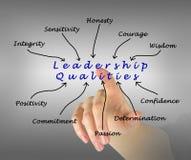 Diagram of leadership qualities. Presenting diagram of leadership qualities stock image