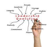 Diagram of leadership qualities Royalty Free Stock Photo