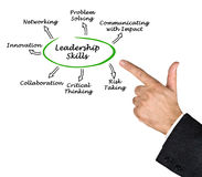 Diagram of Leadership Skills royalty free stock photo