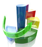 Diagram levels. At registration information related to the economy and business Stock Images