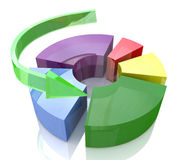 Diagram levels. At registration information related to the economy and business Royalty Free Stock Images