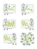 Diagram in mänskliga sinnesrörelser royaltyfri illustrationer
