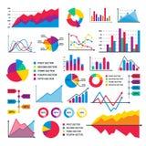 Diagram mallen för data för diagrammet för arket för flöde för affären för vektorn för diagramgrafbeståndsdelar den infographic Arkivbilder