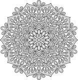 Diagram mandala för att färga Arkivfoton