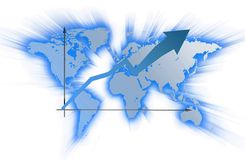 Diagram on a map Stock Photo