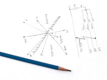 Diagram met analyse van netwerkkortsluiting Royalty-vrije Stock Afbeelding