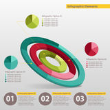Diagram. Modern business options banner, round infographics diagram Stock Image