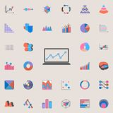 diagram on the monitor icon. Charts & Diagramms icons universal set for web and mobile vector illustration