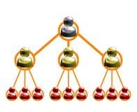 diagram multilevel isolerad marketing Arkivfoto