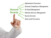 Diagram of network security Stock Images