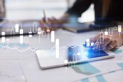 Diagram och grafer Affärsstrategi, begrepp för teknologi för dataanalys Arkivbilder