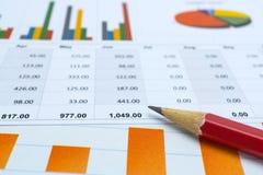 Diagram- och grafpapper Finansiellt, redovisa, statistik, analytiska forskningdata och begrepp för affärsföretagsmöte royaltyfria bilder