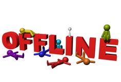 diagram offline-folk Arkivbild