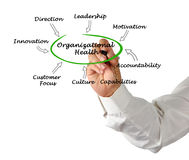 Diagram of Organizational Health. Presenting Diagram of Organizational Health Stock Photo