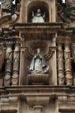 Diagram på fasaden av den storstads- domkyrkan av Sucre, Bolivia Fotografering för Bildbyråer