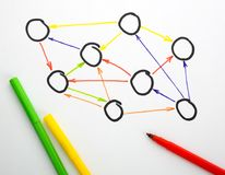 Diagram on paper Stock Photos