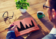 Diagram Parabola Investment Equation Graph Concept.  Royalty Free Stock Images