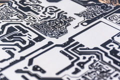 Diagram of PCB board Stock Image