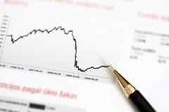 Diagram with pen Stock Photos