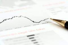 Diagram with pen Royalty Free Stock Photos