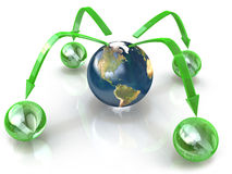 Diagram of the planet Royalty Free Stock Photography