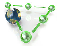 Diagram of the planet Stock Images