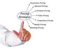 Diagram of Pricing Strategies. Man presenting diagram of Pricing Strategies Royalty Free Stock Images