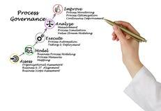 Diagram of Process Governance. Presenting diagram of  Process Governance Stock Photos