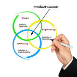 Diagram of product success Stock Image