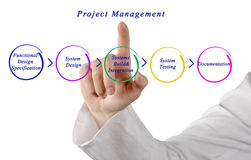 Diagram of project management Stock Images