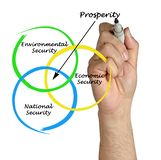Diagram of prosperity. Presenting important components of prosperity royalty free stock photo