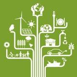 Diagram przedstawia wszystkie graficznych symbole odnosić sie ekologia ilustracja wektor