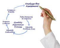 Diagram of Quality Assurance Process Royalty Free Stock Image