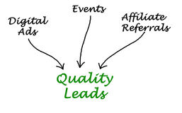 Diagram of Quality Leads Stock Image