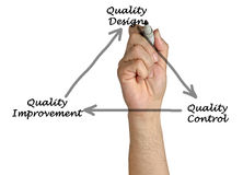 Diagram of quality. Presenting Diagram of quality improvement royalty free stock photography