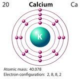 Diagram representation of the element clacium. Illustration Royalty Free Stock Photos