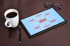 Diagram seo Royalty Free Stock Images