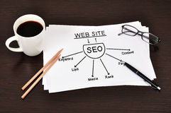 Diagram seo Stock Images