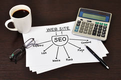 Diagram seo Stock Photography